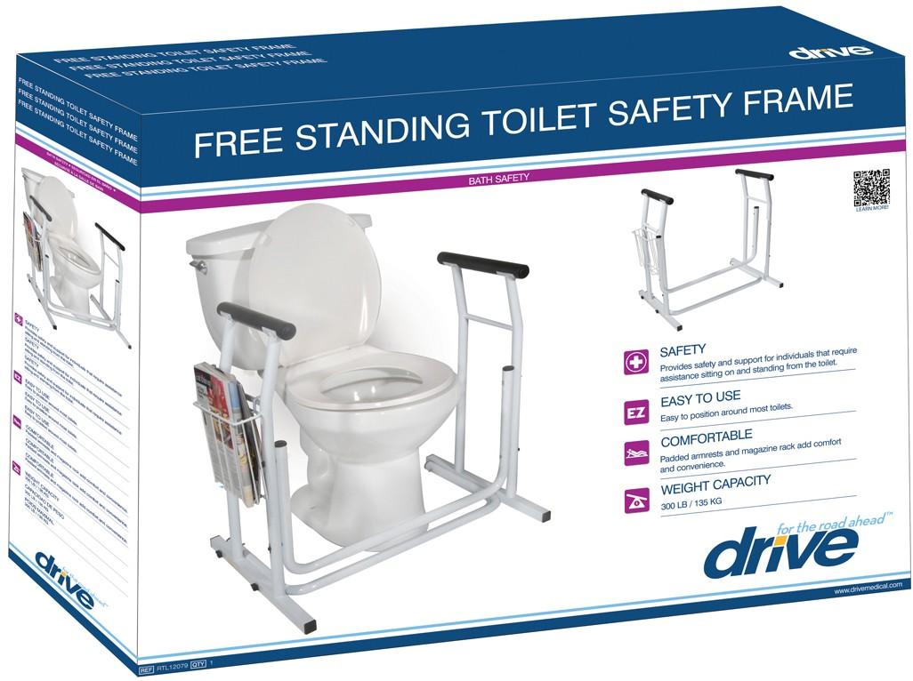 Free-standing Toilet Safety Rail - Glenerinpharmacy